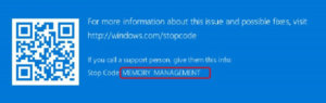 MEMORY_MANAGEMENT BSOD in Windows 10