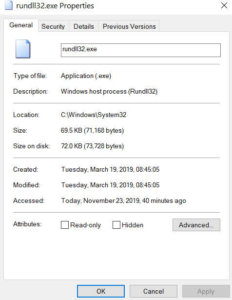 What is rundll32.exe process in Windows?