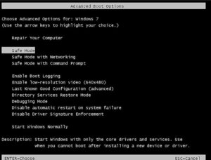 How to enter the safe mode of Windows 7