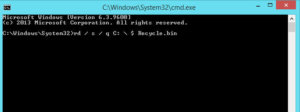 How to fix corrupted Recycle bin in Windows 10